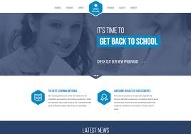 Website Template Free Cool High School Responsive Website Template
