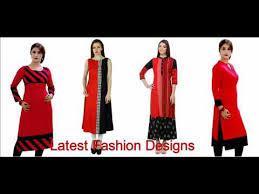 Designer Red And Black Kurti Youtube