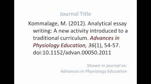 Apa Format Reference Journal Article Online Milviamaglione