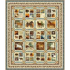 Quilting Treasures Unbridled Quilt Pattern 64x76 by Cyndi Hershey ... & Quilting Treasures Unbridled Quilt Pattern 64x76 by Cyndi Hershey Adamdwight.com