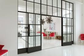 blake house spacious home glass sliding door design