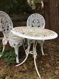 wonderful vintage french old cast iron garden furniture 1st half 20th st century