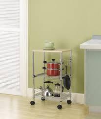 chrome 3 tier wire rolling kitchen cart designs
