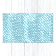 audriana sky blue area rug hand knit by rugs
