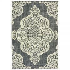 oriental weavers marina 5929e grey ivory medallion area rug