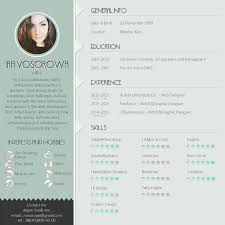Trendy Resumes Free Download Mint CV design On the links below you can get free psd template 8
