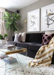 Living Room Black Sofa Spring Home Tour Spring My Spring And Horse Print
