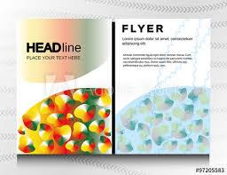 Abstract Radial Gradient Geometric Brochure Flyer Design