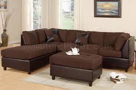 chocolate microfiber modern sectional sofa w ottoman