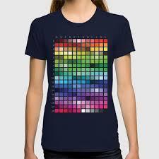 Society6 T Shirt Size Chart Color Chart T Shirt