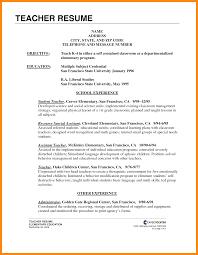 Resume Example Student Teaching Lovely Cover Letter Math Teacher