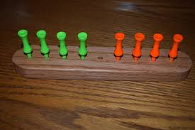 Wooden Peg Games Eight Frogs on a Log Peg Game WoodLogger 45
