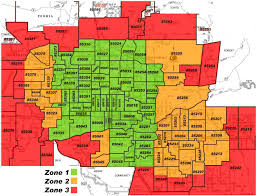 phoenix arizona zip code map  phoenix az zip code map (arizona  usa)