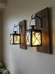 indoor lanterns decor wood sconce