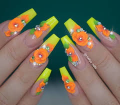 3d Nail Art Designs 65 Pretty 3d Flower Nail Art Designs Tiger Feng