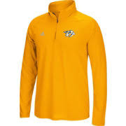 adidas quarter zip. adidas men\u0027s nashville predators logo ultimate gold performance quarter-zip pullover quarter zip
