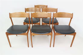 wood dining chairs top design set 6 danish teak dining chairs by erik buch for o d
