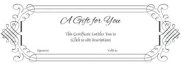 Download Gift Certificate Template Gift Certificate Template Word Free Download Simple Voucher