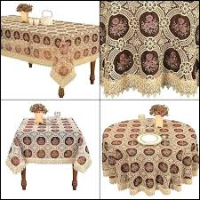 84 inch round table dining room vintage elegant beige lace tablecloth linen embroidered burdy inch round
