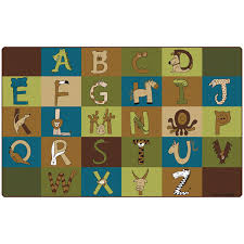 a to z animals nature school rug