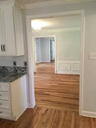 Kitchen Wood Flooring Solid Hardwood Floors Refinished 40 Yr Old Wood In Dining And New