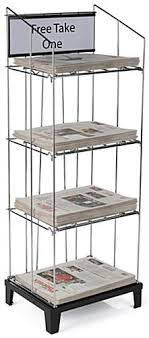 Image Bookshelf Wire Newspaper Floor Rack Removeable Shelves Store Fixtures These Wire Newspaper Floor Racks Are The Perfect Way To Sell Media