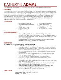Sample Resume For Customer Service Account Manager Best Account ...