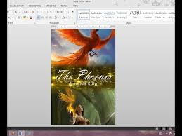 book cover page maker how to make your own book cover using ms word youtube