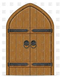 old wooden door on white background gate vector image vector artwork of objects to zoom