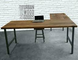 wooden office desks. Contemporary Desks Wooden Home Office Desk Reclaimed Wood L Shaped    With Wooden Office Desks