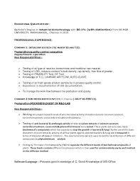 Biotech Resume Sample Best of Biotech Resume Sample 24 Biotech Fresher Resume Sample Resume Web