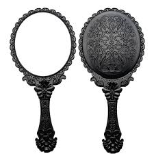 Hand mirror Pink 96bef3b009c7be61e1f729608e95c605jpg Alexnldcom Black Floral Repousse Vintage Mirror Oval Hand Held Makeup Beauty