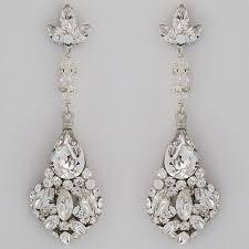large teardrop crystal chandelier earrings