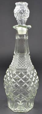 anchor hocking glass wexford clear pattern decanter 14 5 tall