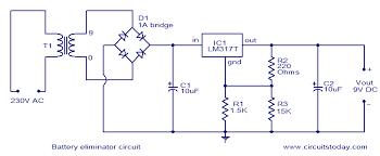battery eliminator circuit electronic circuits and diagram 9 volts circuit diagram battery eliminator circuit