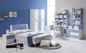 Adorable Kids Bedroom Paint Color Schemes Ideas : Cool Blue And White  Decorative Walls For Kids ...