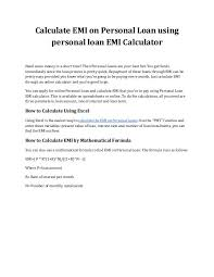 Loan Interest Calculator Impressive Personal Loan Interest Calculator Formula Kenicandlecomfortzone