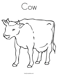 Small Picture Cow Coloring Page Twisty Noodle