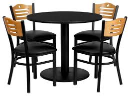 wonderful flash furniture 36 inch round black laminate table set with 4 metal chairs traditional