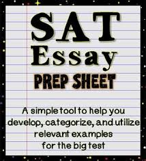 The Sat Essay Prep Sheet