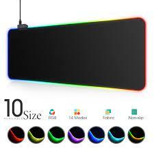 LED ışık Mousepad RGB klavye kapağı masa mat renkli yüzey Mouse Pad su  geçirmez çok boyutlu dünya bilgisayar oyun CS dota|Mouse Pads