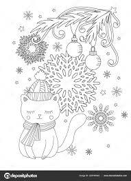 Kerstmis Kleurplaat Stockvector Elinorka 224765542