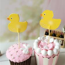 Cake Decorating Accessories Wholesale Wholesale 100 PCS Cute Yellow Duck Cupcake Topper Cake Accessories 86