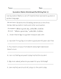 Englishlinx.com | Quotation Marks Worksheets