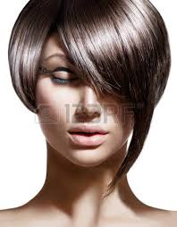Haircut And Hairstyle beautiful brunette woman with fashion fringe haircut stock photo 4742 by stevesalt.us