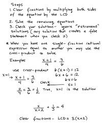 problem solving involving rational algebraic equations
