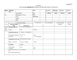 26 Images Of Food Production Sheet Template   Leseriail.com