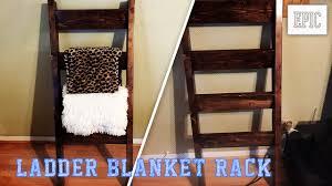 Diy Ladder Quilt Rack