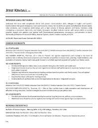 Nursing Resume Templates Free Critical Care Nurse Resume Example Registered Nurse Resume Template ...