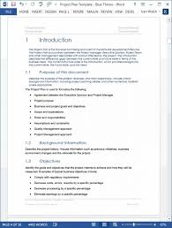 Project Management Template Word Project Plan Template Word Template Sample Resume Templates